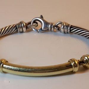 David Yurman Classic Cable 14k & Sterling Bracelet